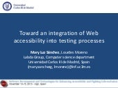 Toward an integration of Web accessibility into testing processes