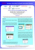 Blogs of the hospital librarian: to be or not to be on the web? (Poster EAHIl2010)