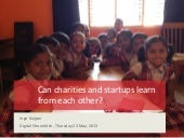 Can charities and startups learn from each other?