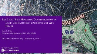 DSD-INT 2021 | Slides - Sea Level Rise Modeling Considerations in Land Use Planning
