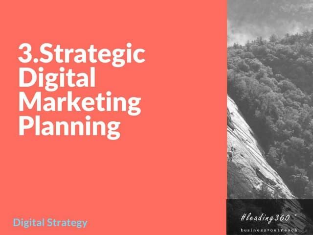 Strategic Digital Marketing Planning Framework