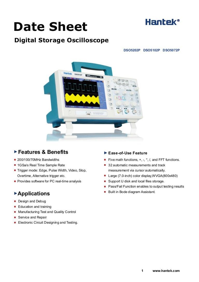 Hantek Dso5072p Datasheet Electronic Circuit Design Services
