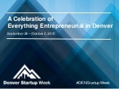 How Denver is Leading the Internet of Things - Denver Startup Week - October 2, 2015