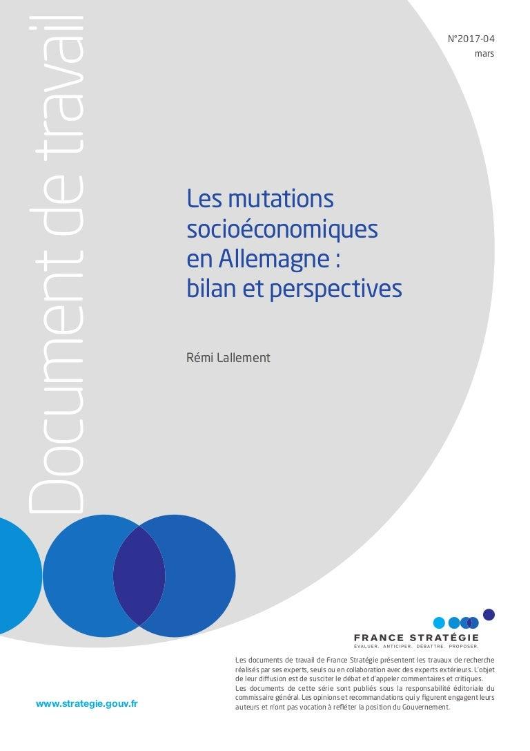 Les Mutations Socioeconomiques En Allemagne Bilan Et Perspectives