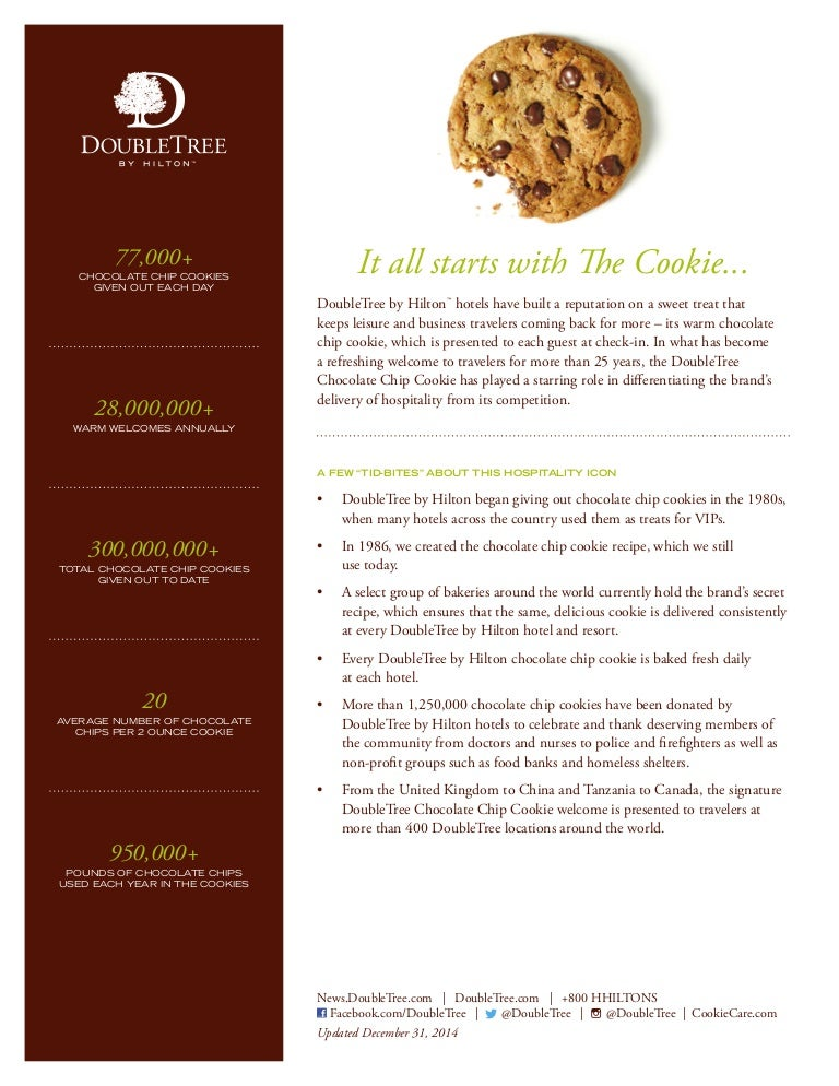 Cookie Fact Sheet Doubletree Plark Pace Minneapolis