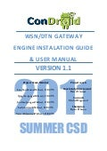 Condroid WSN/DTN Gateway - User Manual & Installation Guide