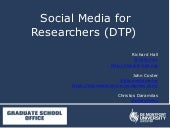 DMU Social Media for Researchers (DTP)