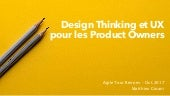 Design Thinking et UX pour les Products Owners