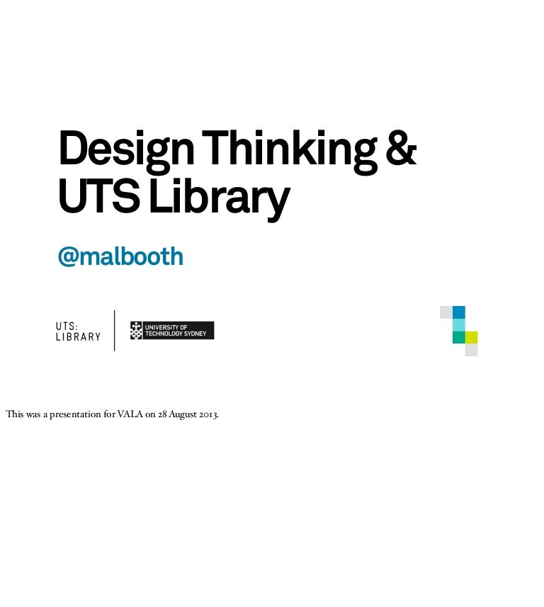 Design Thinking And Uts Library