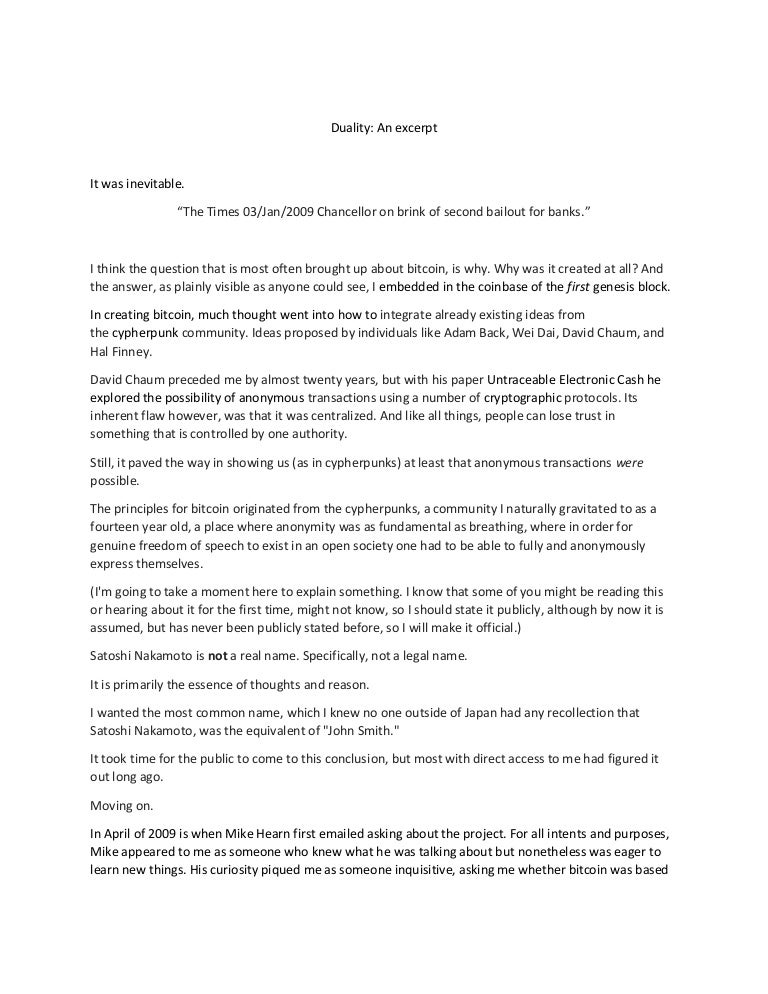 satoshi nakamoto bitcoin paper citation)