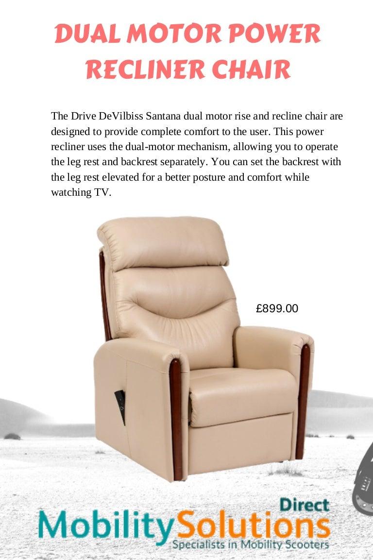 Dual Motor Power Recliner Chair