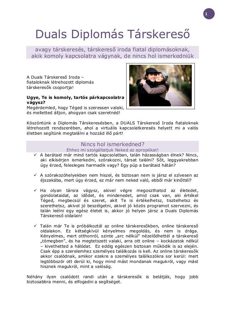 társkereső értelmiségiek)
