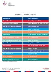 Dubai British Foundation -Academic Calendar 2014/15