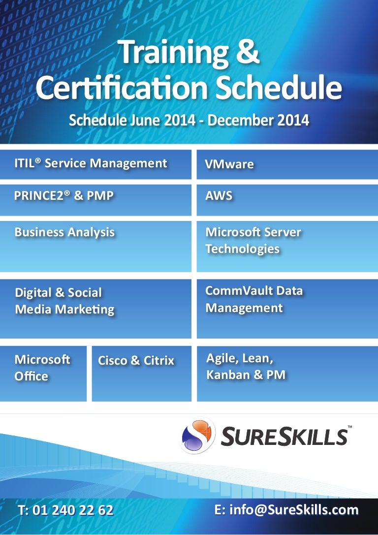 Sureskills dublin training schedule 2014 1betcityfo Images