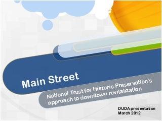 DUDA Main Street Presentation