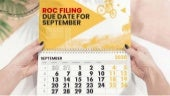 Read About Due Date ROC Annual Return Form September FY 2019-20