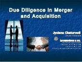 Due diligence in_merger_and_acquisition