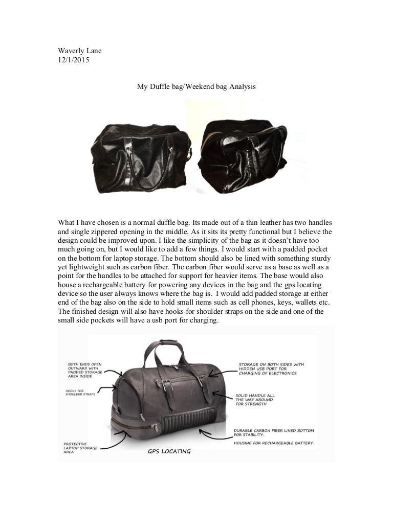 65375e18e8bb Duffle bag assessment