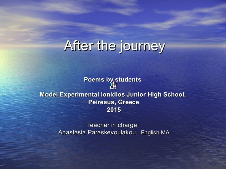 Poems About Journeys 3