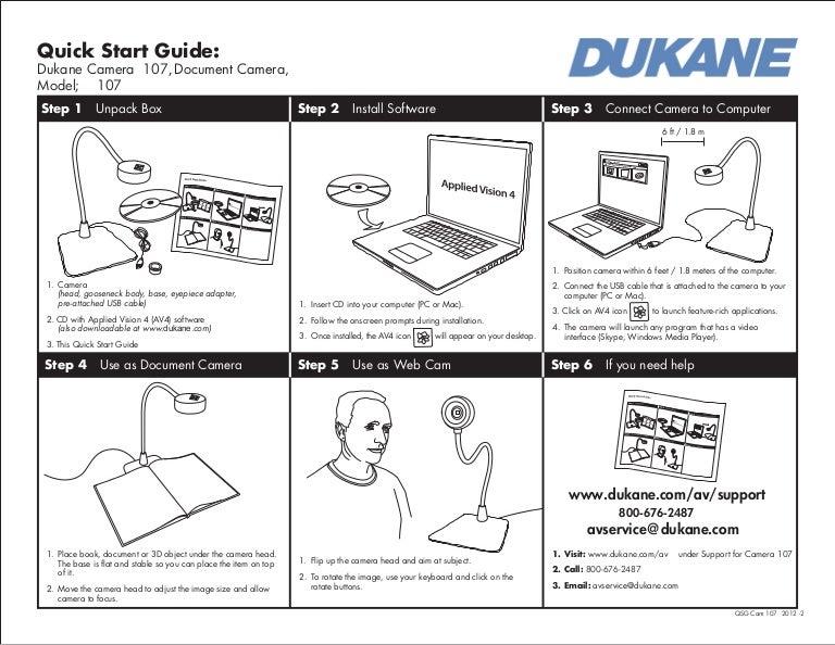 Dukane camera 107 user guide