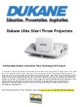 Dukane ultra short throw projectors 2013