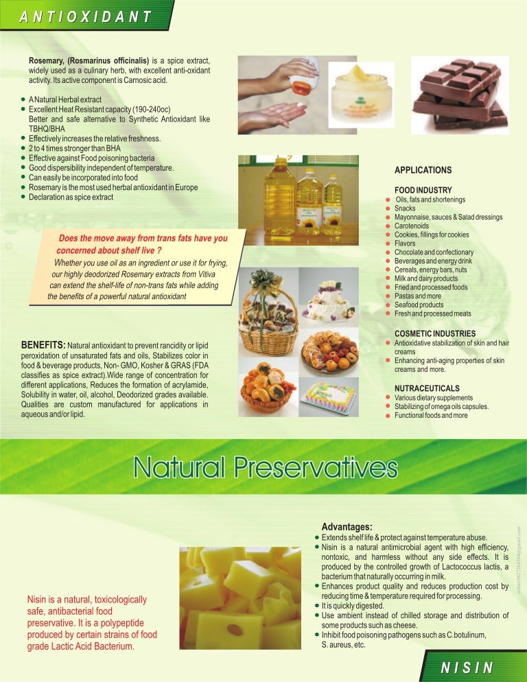 Natural Preservatives | Duke Thomson's | Food ingredients | Dairy Ing…