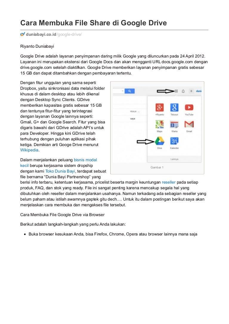 Cara Membuka File Share Di Google Drive