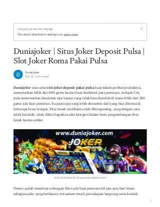 Duniajoker situs joker deposit pulsa login joker123