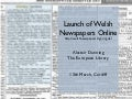 Launch of Welsh Newspapers Online