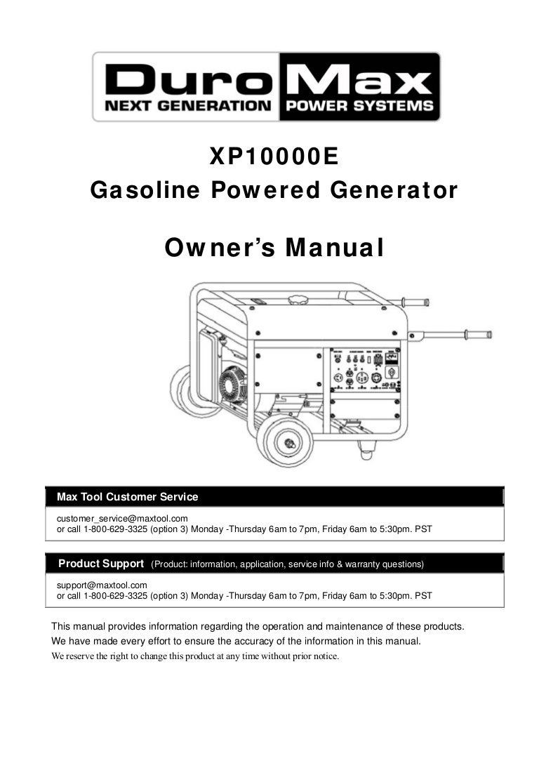 duromax xp10000e generator owners manual 140413141823 phpapp01 thumbnail 4?cb=1397398772 duromax xp10000e generator owners manual duromax 16 hp engine wiring diagram at aneh.co