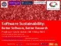 Software Sustainability: Better Software Better Science