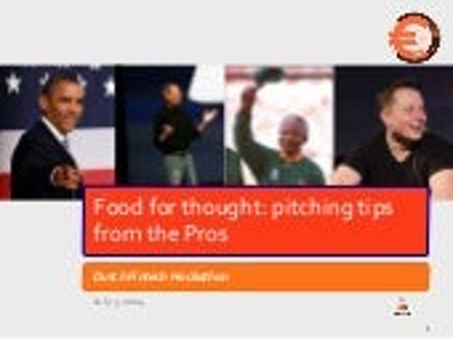 Dutchfintechhackathon : pitch training