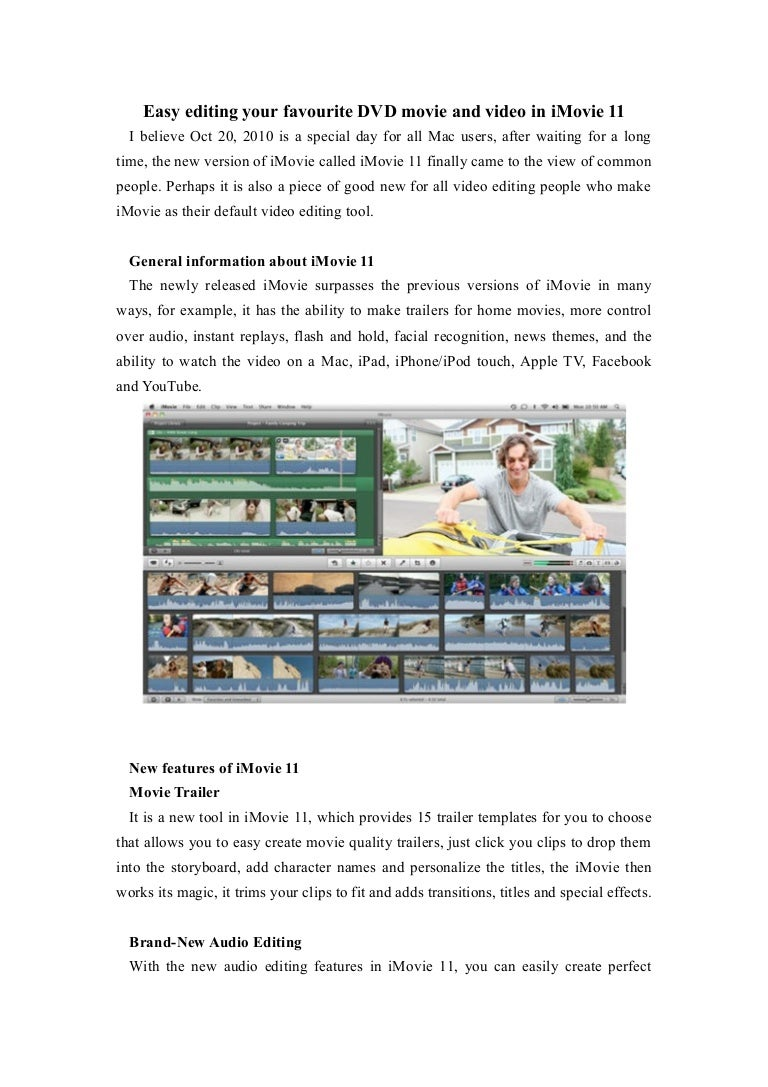 Cool Trailer Templates For Imovie Images - Entry Level Resume ...