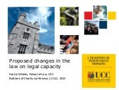 Proposed changes in the law on legal capacity