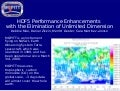 HDF5 Performance Enhancements with the Elimination of Unlimited Dimension