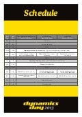 Dynamics Day 2013 Schedule - Sydney