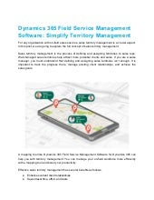 Dynamics 365 field service management software  simplify territory management
