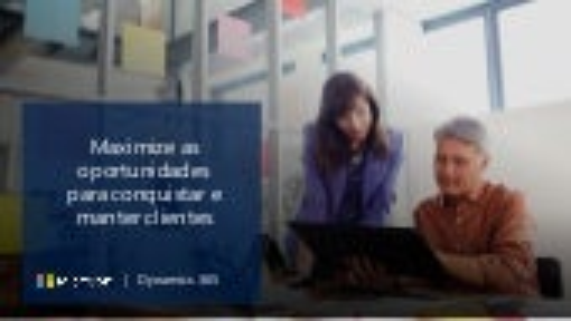 Dynamics 365 para Vendas - Oportunidades e Produtividade