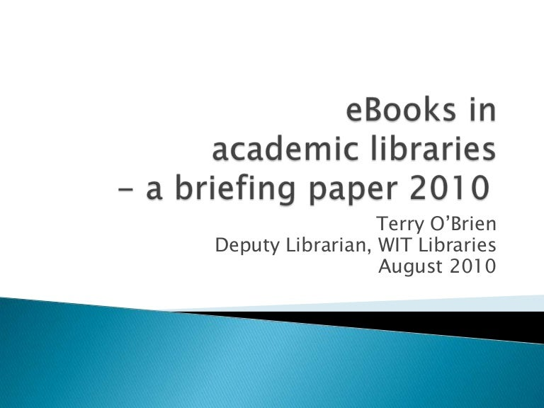 E books in academic libraries a briefing paper fandeluxe Image collections