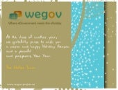 Merry Christmas & Happy New Year - WeGov card