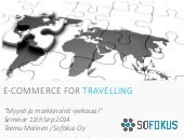 Different e-Commerce Types for Travelling Industry