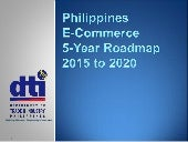 Philippines E-Commerce Roadmap - July 16 DRAFT