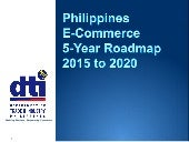 Philippines E-Commerce Roadmap 2015 to 2020 (June 11 DRAFT)