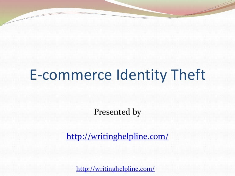 essay on identity theft Identity theft this written assignment requirement is for an examination of identity theft your assignment is to be submitted in apa format, using 12 point font.