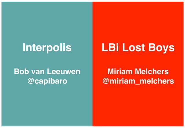 Emerce E-Health Presentatie Interpolis & LBi Lost Boys