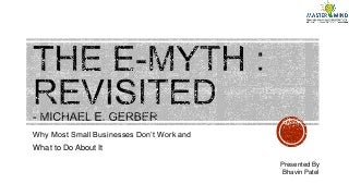 Book: E Myth Eevisited Written by Michael Gerber