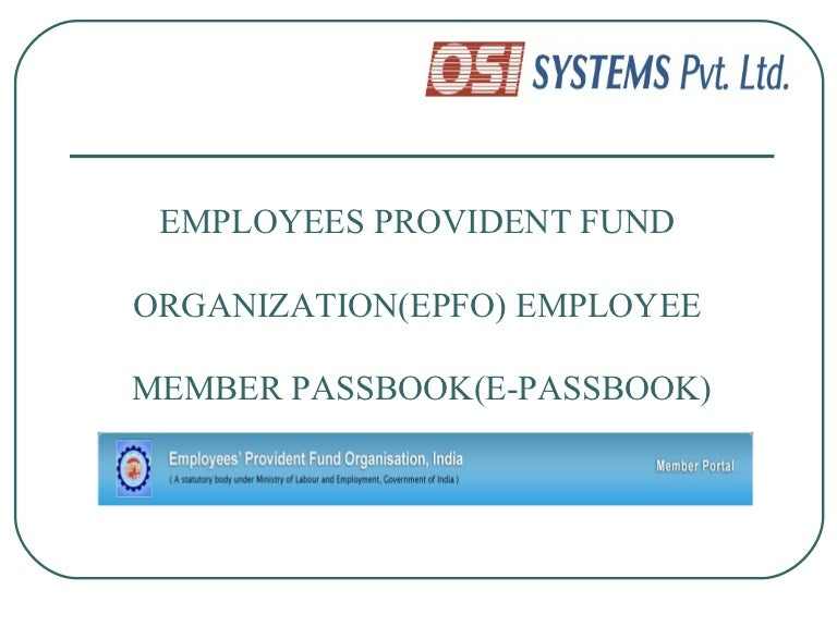 E Passbook Presentation For All Employees