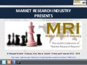 E-Passport Market - Analysis, Size, Share, Growth, Trends and Forecast 2012 - 2016