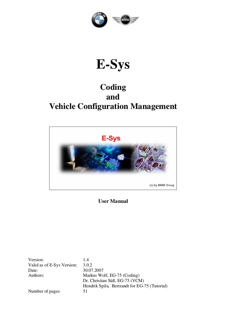 E sys coding - user manual v1 4