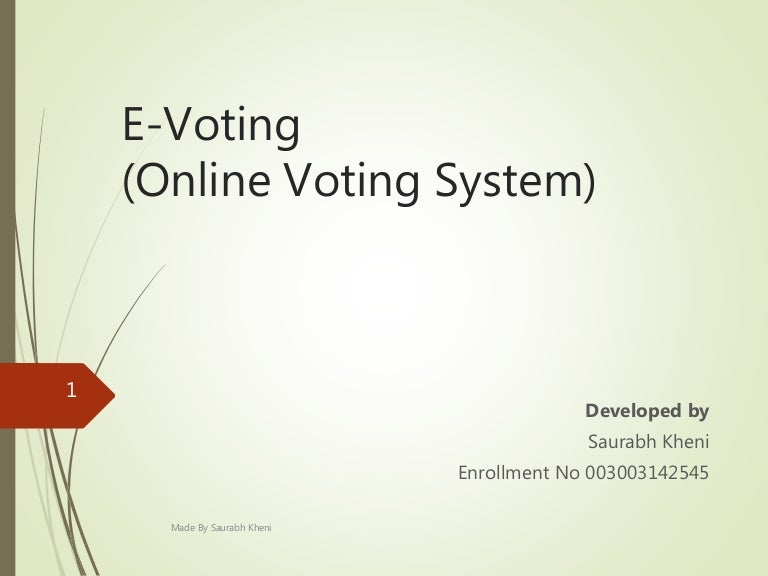 related literature for online voting system in local The number of registered voters in chicago is up compared to 2010, which experts say could be a result of heightened interest in this year's midterms and state legislation making signing up easier.